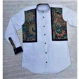 White Shirt with Vintage Print