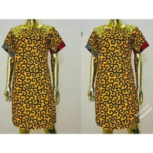 African Ankara easy to wear gown