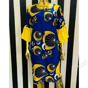 Short sleeve funnel hand easy to wear gown