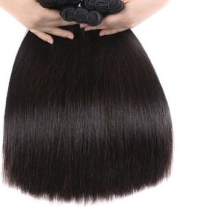 """Double Drawn Straight Hair Weave Bundles Hair Extension Natural Color; 18"""""""