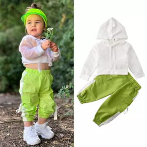 Net Hooded T-Shirt Top and Pants; 1-6 years
